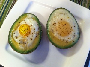 avacado eggs