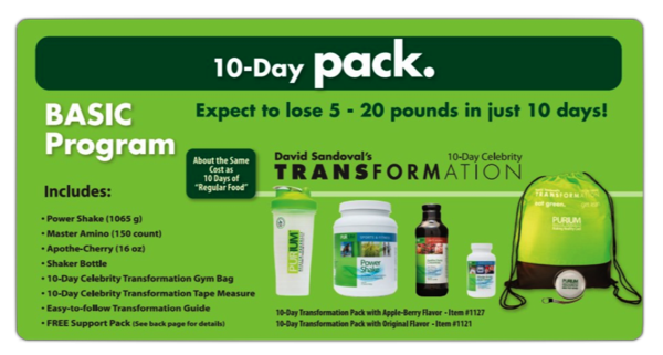 purium cleanse 10 day pack